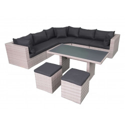 Fonteyn   Lounge-/Dining set Salou   Light Grey