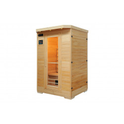 Sauna Ivar 2 Infrarotsauna Vollspektrum Comfort Serie 2000 Watt