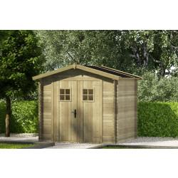 Gartenhaus/Blockhütte Fonteyn Stephanie Satteldach Hochdruck-Imprägniert 250 x 200 cm