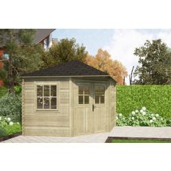 Gartenhaus / Blockhütte Fonteyn Carmen Pyramidendach  300 x 300 cm