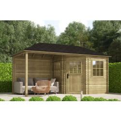 Gartenhaus / Blockhütte Fonteyn Eline Pyramidendach 240 Hochdruck imprägniert 480 x 240 cm