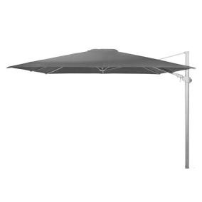 4 Seasons Outdoor | Zweefparasol Siesta Premium 300 x 300 cm | Wit-Charcoal