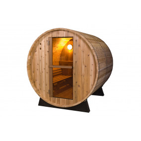 Saunafass  - Fonteyn Rustic 4 FT Aussensauna 125 x 185 x 200 cm
