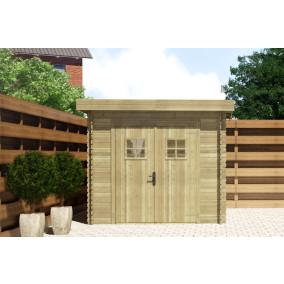 Gartenhaus/Blockhütte Fonteyn Mandy Hochdruck-Imprägniert 250 x 200 cm