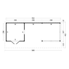 category Tuindeco | Overkapping Bergen XL | Type 8 | Zwarte Wanden 211186-10