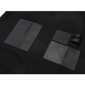 category Traeger | BBQ Schort Zwart | Canvas en Leer | XL 502917-10