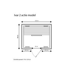 category Sauna Ivar 2 Infrarotsauna Comfort Serie 1750 Watt 400025-10