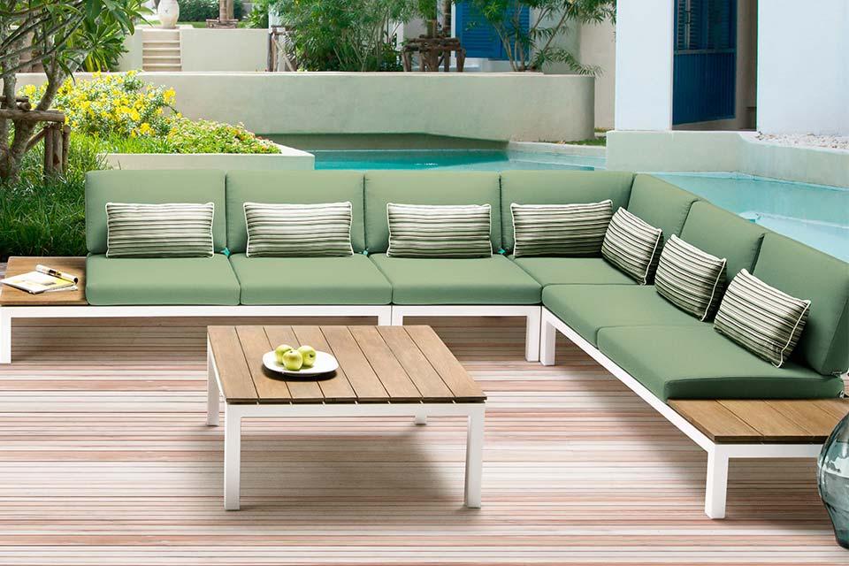 Pebble Beach Loungeset Teakhout | Apple Bee!